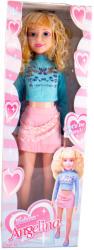 Vegatoys Sétáltatható baba kék ruhában (LL-75009_A)