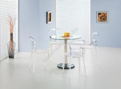 HALMAR Cyryl kerek üveg étkezőasztal