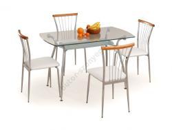 HALMAR Forbes üveg étkezőasztal