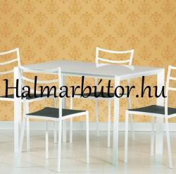 HALMAR Fred üveg étkezőasztal