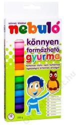Nebuló Színes gyurma - 12 db-os