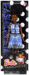 Mattel Barbie - Fashionistas divatos babák - Kék mintás ruhában