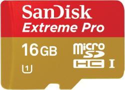 SanDisk microSDHC Extreme 16GB Class 10 UHS-I U3 SDSQXNE-016G-GN6MA