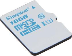 Kingston microSDHC Action  16GB UHS-I U3 SDCAC/16GBSP