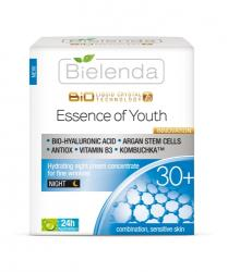 Bielenda Liquid Crystal Biotechnology 7D - Essence of Youth 30+ éjszakai krémkoncentrátum mimikai ráncok ellen 50ml