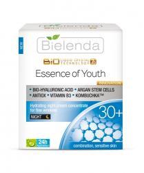 Bielenda Liquid Crystal Biotechnology 7D - Essence of Youth 30+ éjszakai krémkoncentrátum mimikai ráncok ellen 50ml