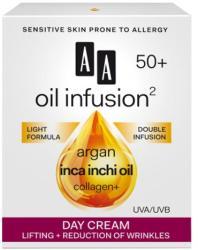 AA Oil Infusion2 50+ lifting hatású, ránctalanító nappali arckrém UVA/UVB 50ml