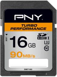 PNY Performance Turbo SDHC 16GB SD16GTURPER90-EF