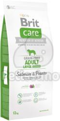 Brit Care - Grain-free Adult Large Breed - Salmon & Potato 3x12 kg