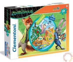 Clementoni Szuper Színes Maxi Puzzle - Zootropolis: Állati nagy balhé 24 db-os (24059)