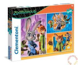 Clementoni Zootropolis: Állati nagy balhé 3x48 db-os (25213)