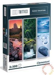 Clementoni Trittico - Természet 3 x 500 db-os (39800)