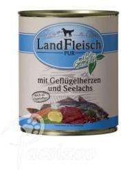 LandFleisch Poultry Hearts & Salmon 400g