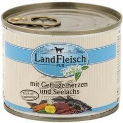 LandFleisch Poultry Hearts & Salmon fillet 195g