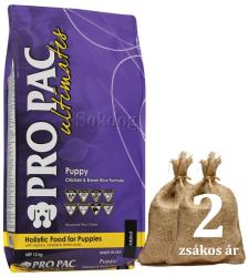 PRO PAC Ultimates - Puppy Chicken & Brown Rice 2x12kg