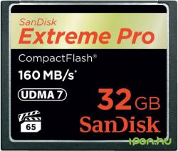 SanDisk Compact Flash Extreme PRO 32GB 160 MB/s SDCFXPS-032G-X46