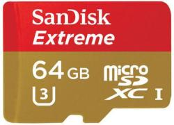 SanDisk microSDXC Extreme 64GB Class 10 UHS-I U3 (SDSQXNE-064G-GN6MA/139762)