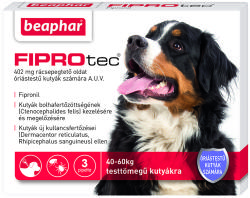 Beaphar Fiprotec Spot On XL 40kg Feletti 402mg (3db)