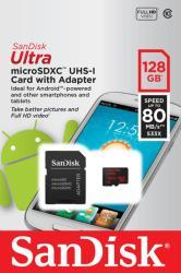 SanDisk MicroSDXC Ultra 128GB Class 10 SSDSQUNC-128G-GN6MA