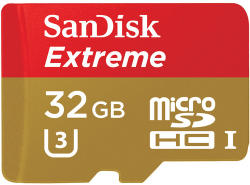 SanDisk microSDHC Extreme 32GB Class 10 SDSQXNE-032G-GN6MA