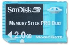 SanDisk MemoryStick PRO DUO Gaming 2GB SDMSG-2048-A11