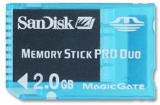 SanDisk MemoryStick PRO DUO Gaming 2GB SDMSG-2048-A11