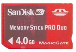 SanDisk MemoryStick PRO DUO Gaming 4GB SDMSG-4096-A11