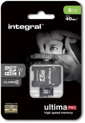 Integral MicroSDHC UltimaPro 8GB UHS-I INMSDH8G10-40U1