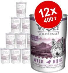 Wolf of Wilderness Green Fields - Lamb 12x400g