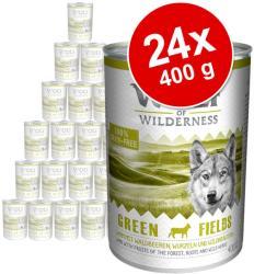 Wolf of Wilderness Green Fields - Lamb 24x400g