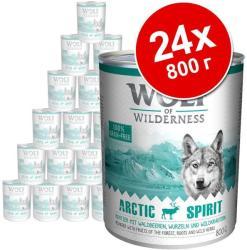 Wolf of Wilderness Green Fields - Lamb 24x800g
