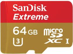 SanDisk MicroSDXC Extreme 64GB Class 10 SDSDQXN-064G-G46A