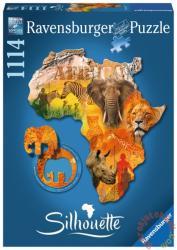 Ravensburger Sziluett puzzle - Afrika 1114 db-os (16157)