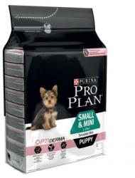 PRO PLAN OptiDerma Small & Mini Puppy Sensitive Skin 3x3kg