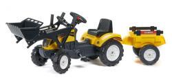FALK Pedálos traktor FALK 2055CM Ranch Trac markolóval és pótkocsival - sárga