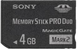 Sony Memory Stick PRO Duo Mark2 4GB MSMT4GN