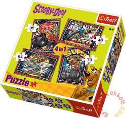 Trefl Scooby-Doo kalandjai 4 az 1-ben puzzle (34257)