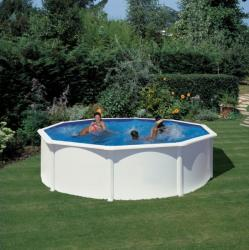Pontaqua White fémfalas családi medence szett 460x120cm (FFA812)