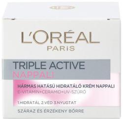 L'Oréal Triple Active hármas hatású hidratáló nappali krém száraz és érzékeny bőrre 50ml