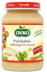OVKO Pulykahús zöldséggel és rizzsel 7 hónapos kortól - 190g