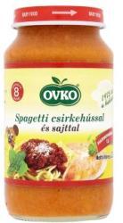 OVKO Spagetti csirkehússal és sajttal 8 hónapos kortól - 220g