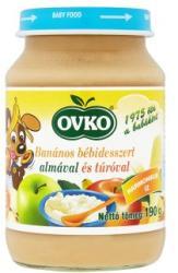 OVKO Banános bébidesszert almával és túróval (gluténtartalmú) 5 hónapos kortól - 190g