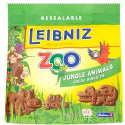 LEIBNIZ Zoo Jungle Animals Kakaós Keksz Gyerekeknek (100g)
