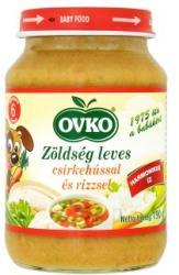 OVKO Zöldség leves csirkehússal és rizzsel 6 hónapos kortól - 190g