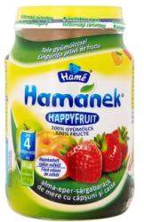 Hamé Hamánek Happyfruit Alma-eper-sárgabarack (gluténmentes) 4 hónapos kortól - 190g