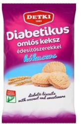 DETKI Diabetikus Kókuszos Omlós Keksz Édesítőszerekkel (180g)