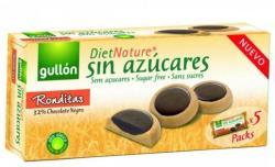 gullón Dietnature Ronditas Étcsokoládéval Töltött Keksz Hozzáadott Cukor Nélkül Édesítőszerrel (186g)