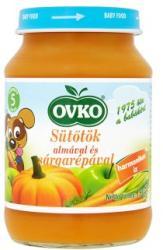 OVKO Sütőtök almával és sárgarépával 5 hónapos kortól - 190g