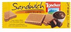 Loacker Sandwich Chocolate Ropogós Ostyák Csokoládékrémmel Töltve (25g)