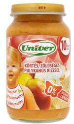 Univer Körtés-zöldséges pulykahús, rizzsel 10 hónapos kortól - 220g